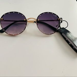 Quay Australia Farrah Rhinestone Sunglasses